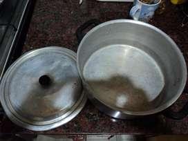 antigua olla de aluminio everest manija baquelita