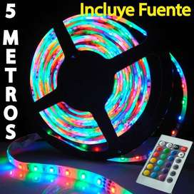 TIRA LED RGB 5 METROS CON CONTROL REMOTO