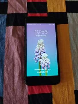 iPhone 7 negro mate, estado 8/10