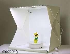 Studio photo box grande con luz led 40x40x40cm portatil con maleta