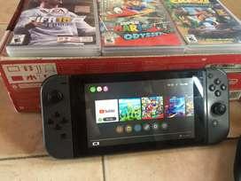 Nintendo Switch con 3 juegos