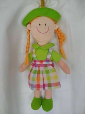 Muñeca Pepona Plush Woody Toys 35cm Con Trenzas