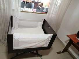 Colecho madera + colchón antireflujo