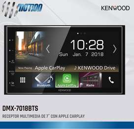 RADIO KENWOOD DMX-7018BTS CON CARPLAY, ANDROID AUTO, MIRRORLINK PARA ANDROID, 75MM DE PROFUNDIDAD