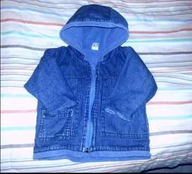 Campera Jeans Interior Polar