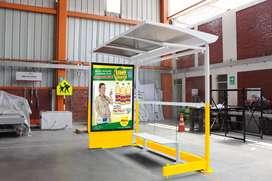 Mobiliario Urbano - Paraderos Publicitarios  de Bus