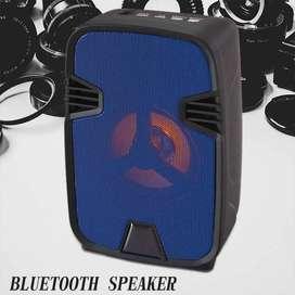 Mini Parlante Portatil Bluetooth 4´´ Luces Led Radio Fm