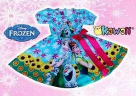 Hermoso vestido diseño personalizado de frozen