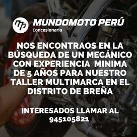 Mecanico de motocicletas