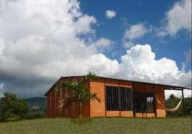 casas prefabricadas para fincas,terrazas,lotes y aulas escolares.
