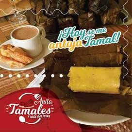 Tamales, empanadas y jugos