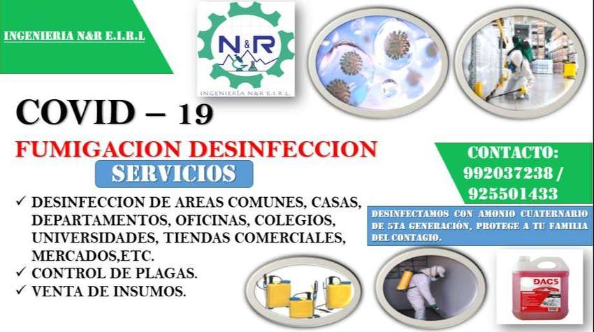 Desinfección, fumigación.