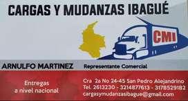 CARGAS Y MUDANZAS EN TODA COLOMBIA