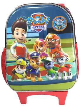 Bolso Morral Infantil Paw Patrol Niño Relieve Negro