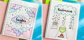Se personalizan cuadernos