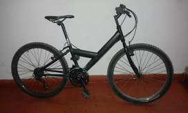 Bicicleta negra ring 24