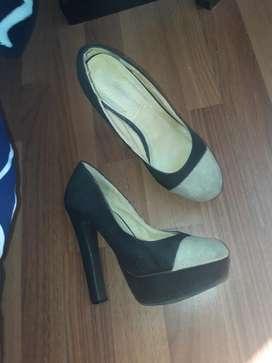 Zapatos Talla 36 Taco Alto