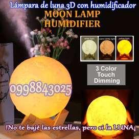 LÁMPARA DE LUNA Y HUMIDIFICADOR