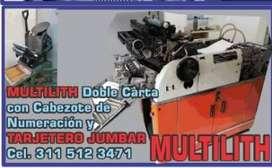 VENDO MAQUINA LITOGRAFICA 1250 CON CABEZOTE NUMERACION Y TARJETERA JUMBAR 1/16