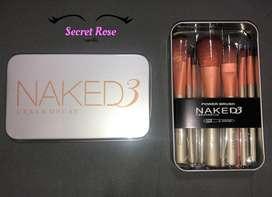 Brochas Naked - Incluye 12 brochas y estuche