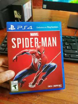 Spiderman ps4 80 soles en buen estado 10\10