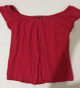 Blusa roja, talla s