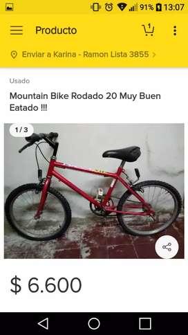 Mountain bike muy buen estado !!! Rodado 20