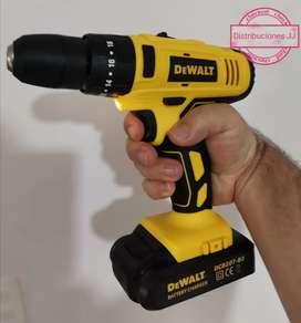 Taladros de 24 voltios percutor con accesorios de marcas Makita Dewalt Bosch