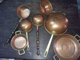 Juego de puro cobre para cocina