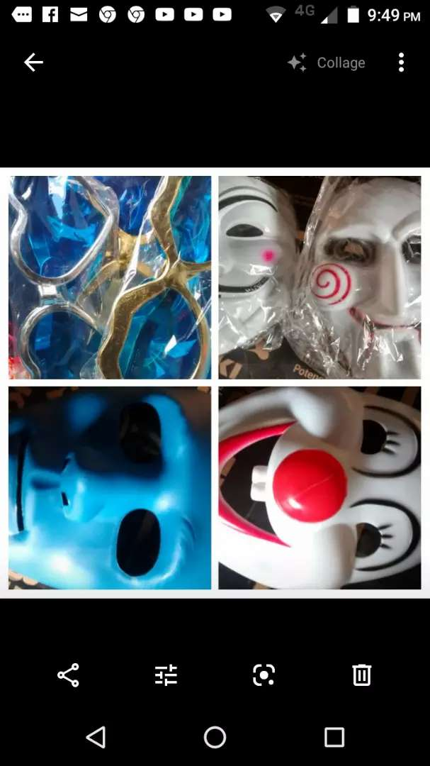 10 Máscaras  distintos modelos 0