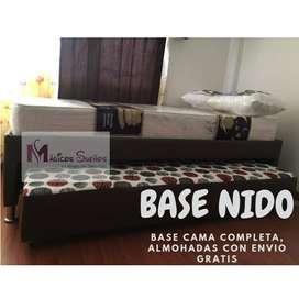 COMBO BASE DUPLEX CON COLCHON INCLUIDO Y ENVIO