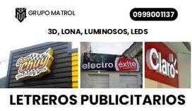PUBLICIDAD LETREROS 3D