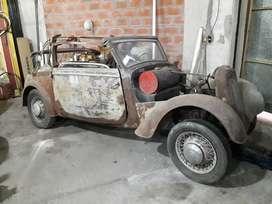 DKW F7 cabriolet y DKW F8 cabriolet, motor dos tiempos origen alemania.