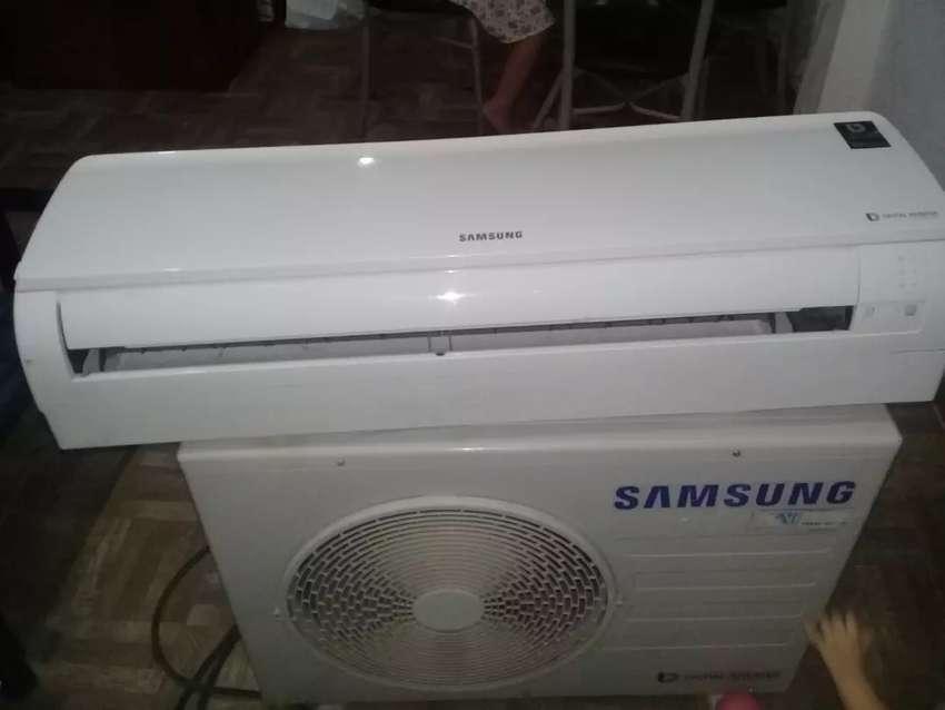 Vendo split Samsung inverter de 6000 frigiroas falta reparar la plaquetas el resto funciona todo 0