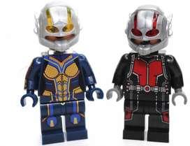 MINI FIGURAS MARVEL TIPO LEGO AIRON MAN,HOMBRE HORMIGA,MUJER AVISPA,