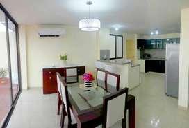 Alquiler de Casa Amoblada, con Piscina Propia,  Urbanizacion Privada, Via Samborondon - Salitre