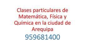 CLASES PARTICULARES DE MATEMÁTICA, FÍSICA Y QUÍMICA