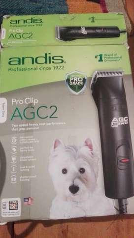 PELADORA ANDIS AGC2 (120V- ) Oportunidad!! Como nueva! completa con accesorios .Ideal peluqueria canina y particulares