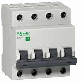 Dispositivos de protección eléctrica interruptor diferencial tetrapolar y interruptores termomagneticos
