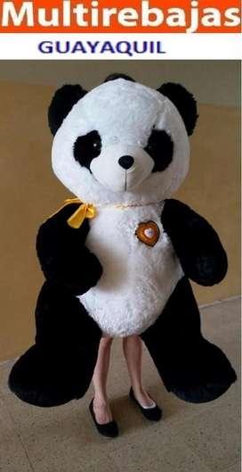 Peluche Panda Musical con Luces Led en el Corazon de 1.60 Metros