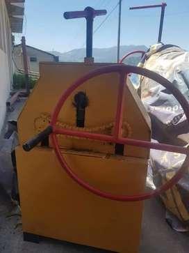 """Dobladora, Roladora de tubos cap. 2"""" y 1 1/4 manual"""