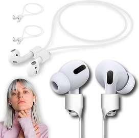 Cable Siliconado Magnetico Para Audifonos Bluetooth AirPods Blanco