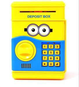 Caja Fuerte Minion Alcancia Infantil Safe Money Sonidos Led