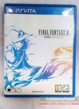 final fantasy X juego físico para ps vita