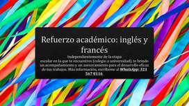 Refuerzo academico en idiomas