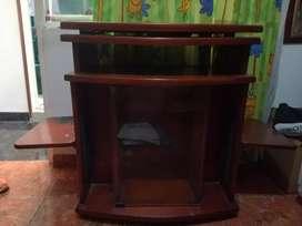Mueble para tv y equipo sonido madera de pino