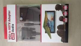 Nuevo Adaptador HDMI a VGA HDMI hembra a VGA macho convertidor + AUDIO