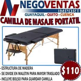 CAMILLA PORTATIL DE MASAJE CAPACIDAD PARA 200 LIBRA