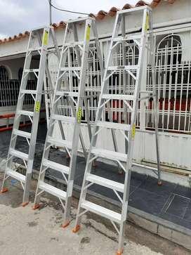 Escaleras tipo tijera dielectricas en alquiler