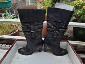 botas cuero dama usadas 37